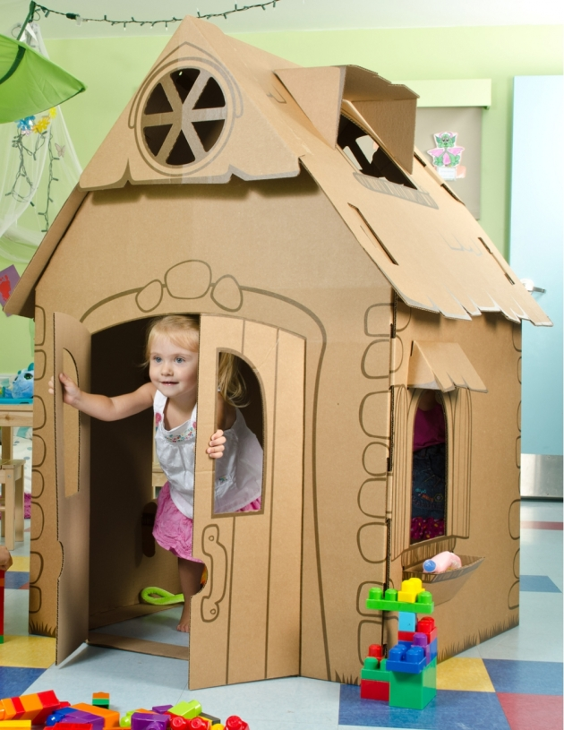 Bunny Castle Cardboard Cardboard Castle Playhouse
