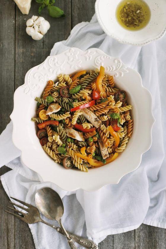 Grilled Chicken & Fresh Veggie Pasta Salad