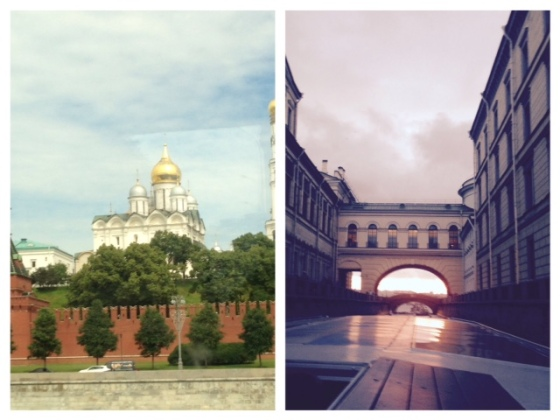 Left: Moscow. Right: St Petersburg