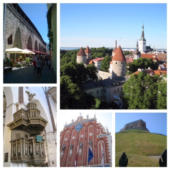 Clockwise from top left: Inside the city walls, Tallin; Tallin from above; Part of Vilnius Castle; House of the Blackheads, Riga; Inside the Riga Dome Cathedral.